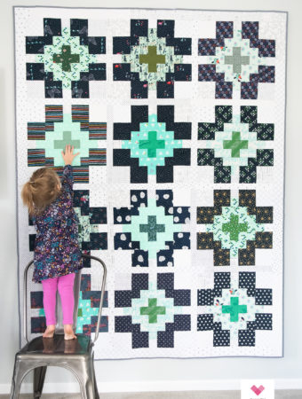 Scrappy Glowing quilt by Emily of Quilty Love