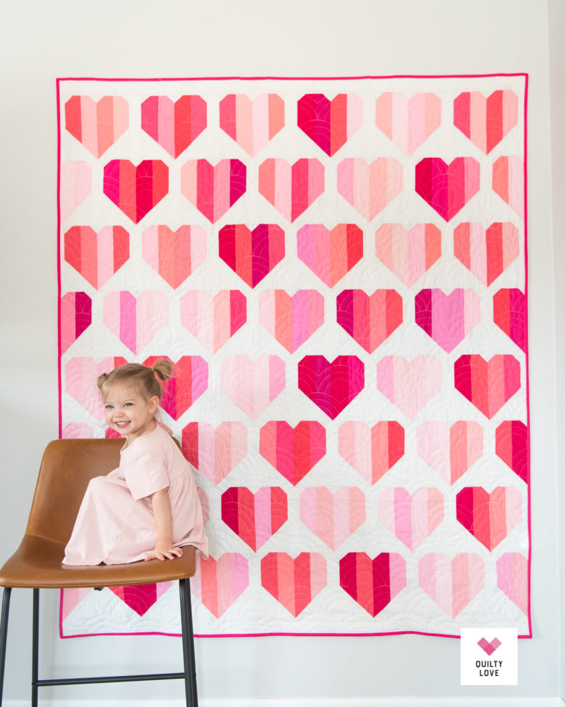 Infinite Hearts quilt pattern by Emily of Quilty Love