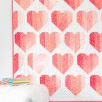 Infinite Hearts baby quilt
