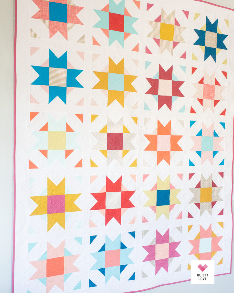 Quilty Love Palette Picks Compass Star quilt