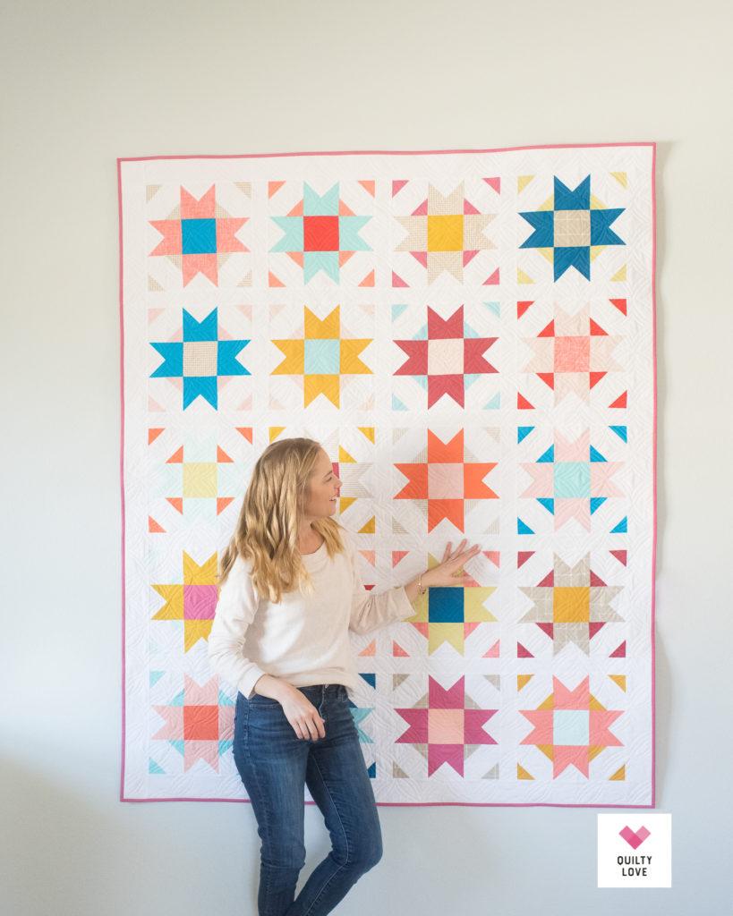 Quilty Love Palette Picks Compass Star quilt