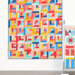 Lucky Log Cabins quilt using the Quilty Love Palette Picks bundle