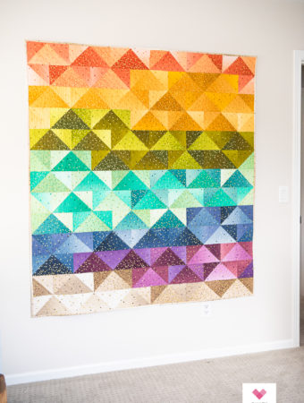 Ombre Patchwork Flying Geese quilt by Emily of Quiltylove.com