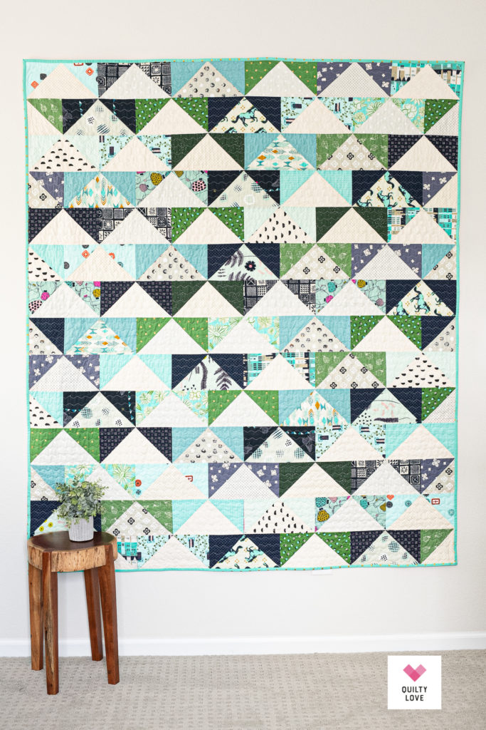 Scrappy Patchwork Flying Geese stash buster quilt pattern