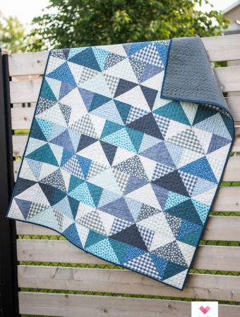 Paintbox Patchwork Flying Geese quilt